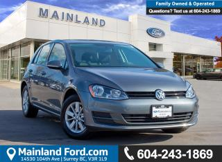 Used 2016 Volkswagen Golf 1.8 TSI Trendline ACCIDENT FREE, BC LOCAL, LOW KMS for sale in Surrey, BC