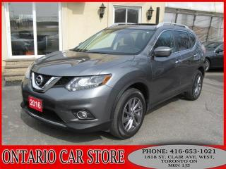Used 2016 Nissan Rogue SL AWD NAVIGATION LEATHER PANO ROOF for sale in Toronto, ON