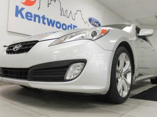 Used 2011 Hyundai Genesis Coupe 2.0T coupe with a sunroof. Surprisingly comfortable and spacious! for sale in Edmonton, AB