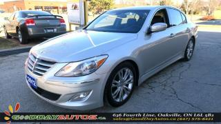Used 2012 Hyundai Genesis NO ACCIDENT|ALLOYS|LEATHER|BACKUP CAMERA|CERTIFIED for sale in Oakville, ON