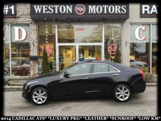 Used 2014 Cadillac ATS LUXURY PKG*LEATHER*SUNROOF*LOW KM!!* for sale in York, ON