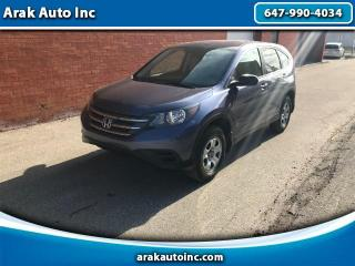 Used 2012 Honda CR-V LX 4WD 5-Speed AT for sale in Mississauga, ON