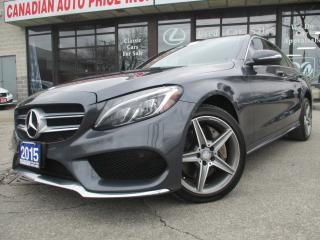 Used 2015 Mercedes-Benz C 300 4MATIC-AMG-SPORT PKG-NAV-CAM-LTHER-PANO-ROOF for sale in Scarborough, ON