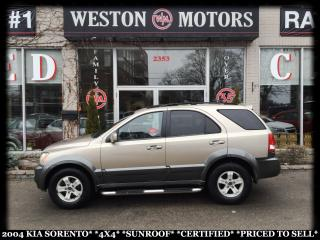 Used 2004 Kia Sorento *4X4*SUNROOF*CERTIFIED!!* for sale in York, ON