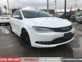 Used 2015 Chrysler 200 S | NAV | V6 | CAM | LEATHER | HEATED SEATS for sale in London, ON