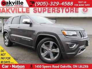 Used 2015 Jeep Grand Cherokee Overland | LEATHER | PANOROOF | NAV | B/U CAM for sale in Oakville, ON
