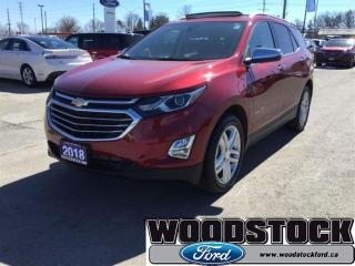 Used 2018 Chevrolet Equinox Premier - Leather Seats for sale in Woodstock, ON