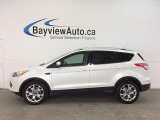 Used 2015 Ford Escape TITANIUM- 4WD|PANOROOF|HTD LTHR|NAV|BLIS|APA|SONY! for sale in Belleville, ON