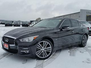 Used 2015 Infiniti Q50 Limited AWD w/all leather,NAV,climate control,rear cam,power moonroof,heated seats,adaptive cruise for sale in Cambridge, ON
