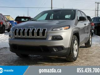 Used 2016 Jeep Cherokee SPORT AWD V6 HEATED SEATS/WHEEL ACCIDENT FREE for sale in Edmonton, AB