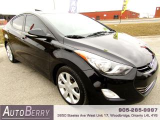 Used 2013 Hyundai Elantra Limited - Navi - Leather - 1.8L for sale in Woodbridge, ON