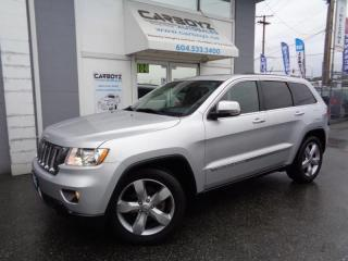 Used 2011 Jeep Grand Cherokee Overland 4WD, Nav, Pano Roof, Leather, 76,501 Kms. for sale in Langley, BC