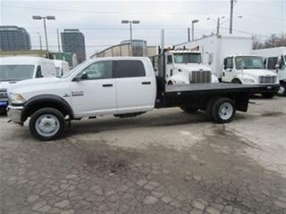 Used 2013 Dodge Ram 5500 Crew Cab 4x4 diesel 12 ft flat deck for sale in Richmond Hill, ON