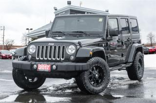Used 2017 Jeep Wrangler Unlimited NAVI | CLEAN CARPROOF | 4X4 | STARTER | for sale in Mississauga, ON