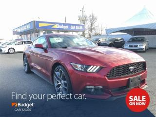 Used 2015 Ford Mustang EcoBoost, Leather, Bluetooth, Low Kms for sale in Vancouver, BC