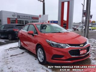 Used 2017 Chevrolet Cruze LT  - Bluetooth -  SiriusXM - $117.24 B/W for sale in Woodstock, ON