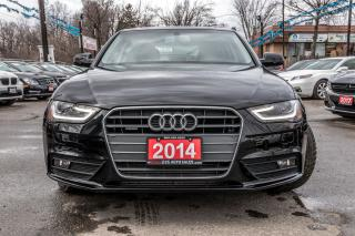 Used 2014 Audi A4 KOMFORT LEATHER SUNROOF NO ACCIDENTS for sale in Brampton, ON