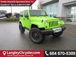 Used 2013 Jeep Wrangler Sahara <B>*ACCIDENT FREE* LOW KMS*LEATHER*HEATED SEATS*<b> for sale in Surrey, BC