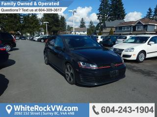 Used 2015 Volkswagen Golf GTI 5-Door Autobahn Autobahn, Power Moonroof, Rear View Camera & Heated Front Seats for sale in Surrey, BC