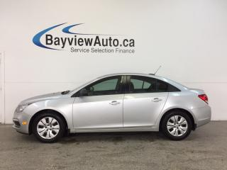 Used 2016 Chevrolet Cruze - 6 SPEED|1.8L|KEYLESS|ON STAR|PWR GROUP! for sale in Belleville, ON