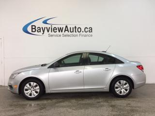 Used 2015 Chevrolet Cruze LS- 6 SPEED|1.8L|KEYLESS ENTRY|PWR GROUP|LOW KM! for sale in Belleville, ON