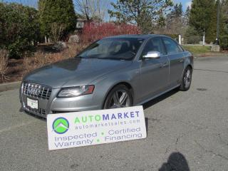 Used 2010 Audi S4 AUTO, AWD, FULLY INSPECTED, FREE WARRANTY for sale in Surrey, BC