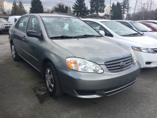 Used 2004 Toyota Corolla 4dr Sdn CE Auto (Natl) for sale in Coquitlam, BC