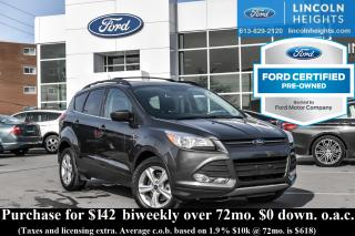 Used 2015 Ford Escape SE 4WD - BLUETOOTH - REAR PARKING SENSORS - CLASS II TRAILER TOW - NAV for sale in Ottawa, ON