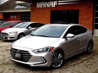 Used 2017 Hyundai Elantra Limited Leather BackUp Cam Lane Dep Low Km Cert for sale in Concord, ON