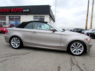 Used 2008 BMW 1 Series 128i Convertible 6 SPD MANUAL LEATHER CERTIFIED 2YR for sale in Milton, ON