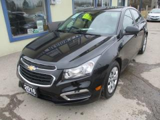 Used 2016 Chevrolet Cruze FUEL EFFICIENT LT MODEL 5 PASSENGER 1.8L - DOHC.. FACTORY WARRANTY.. CD/AUX/USB INPUT.. KEYLESS ENTRY.. for sale in Bradford, ON