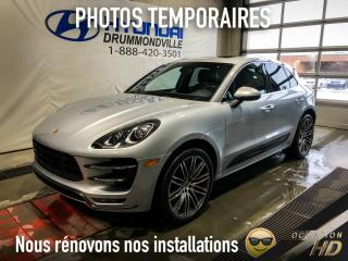 Used 2015 Porsche Macan TURBO + SPORT CHRONO + CARBONE + BOSE + for sale in Drummondville, QC