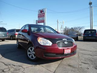 Used 2009 Hyundai Accent AUTO 4DR LOW KM GAS SAVER PW PL A/C CRUISE SAFETY for sale in Oakville, ON