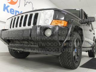 Used 2010 Jeep Commander SPORT with NAV, sunroof, heated power leather seats, rear climate control and the perfect sized vehicle! for sale in Edmonton, AB