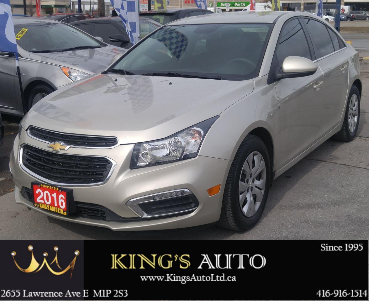 2016 Chevrolet Cruze 1LT, LOW KMS, BACK UP CAMERA
