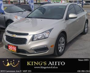 Used 2016 Chevrolet Cruze 1LT for sale in Scarborough, ON