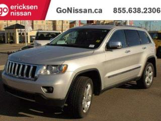 Used 2013 Jeep Grand Cherokee Overland, 4x4, PUSH BUTTON, NAVIGATION, LEATHER, HEATED STEERING WHEEL, COOLED SEATS. for sale in Edmonton, AB