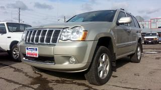 Used 2008 Jeep Grand Cherokee Overland, DIESEL, LEATHER, NAV, DVD, S-ROOF, 4X4 for sale in North York, ON
