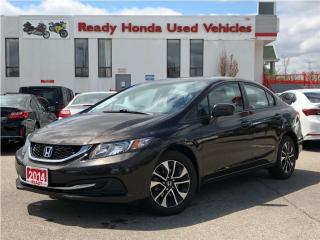 Used 2014 Honda Civic Sedan EX - Sunroof - Alloys - Rear Camera for sale in Mississauga, ON