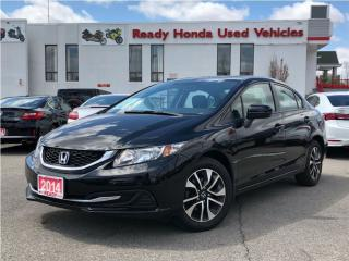 Used 2014 Honda Civic Sedan EX - Sunroof - Lane Watch - New Tires for sale in Mississauga, ON
