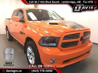 Used 2015 Dodge Ram 1500 Sport HEATED HALF LEATHER, SUNROOF, HEATED STEERING WHEEL for sale in Lethbridge, AB