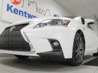 Used 2016 Lexus CT 200h CT 200h with a sunroof, heated power leather seats, back up cam. It's like your very own little spaceship! for sale in Edmonton, AB