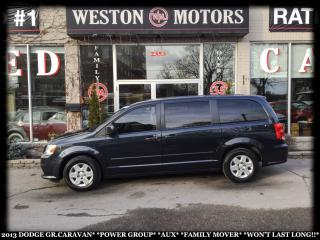 Used 2013 Dodge Grand Caravan POWER GROUP*AUX*FAMILY MOVER*WON'T LAST LONG!!* for sale in York, ON