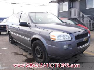Used 2007 Chevrolet UPLANDER LT 4D EXT WAGON for sale in Calgary, AB