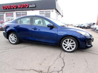 Used 2012 Mazda MAZDA3 GT LEATHER SUNROOF CERTIFIED 2YR WARRANTY for sale in Milton, ON