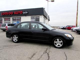 Used 2004 Honda Civic SI Sedan ALLOYS AUTOMATIC SUNROOF for sale in Milton, ON