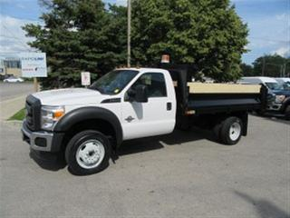 Used 2016 Ford F-550 4x4 diesel with 12 ft steel dump box for sale in Richmond Hill, ON
