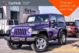 New 2018 Jeep Wrangler JK New Car Sport 4x4|LED Lighting,Pwr Convi.,Connect Pkgs|Sat for sale in Thornhill, ON