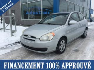 Used 2009 Hyundai Accent Hayon 3 portes, boîte manuelle, L for sale in Longueuil, QC