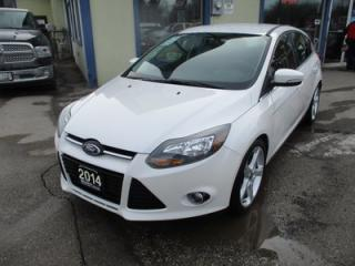 Used 2014 Ford Focus LOADED TITANIUM HATCH MODEL 5 PASSENGER 2.0L - DOHC.. HEATED SEATS.. NAVIGATION.. BACK-UP CAMERA.. BLUETOOTH SYSTEM.. for sale in Bradford, ON